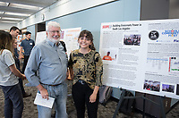 """SCOPE LA: Building Grassroots Power in South Los Angeles"" by Salma Rojas<br /> (Mentor: Peter Dreier and Martha Matsuoka, UEP)<br /> Occidental College's Undergraduate Research Center hosts their annual Summer Research Conference, Aug. 1, 2018. Student researchers presented their work as either oral or poster presentations at the final conference. The program lasts 10 weeks and involves independent research in all departments.<br /> (Photo by Marc Campos, Occidental College Photographer)"