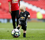 Kit Rooney has a kick about during the English Premier League match at the Old Trafford Stadium, Manchester. Picture date: May 21st 2017. Pic credit should read: Simon Bellis/Sportimage