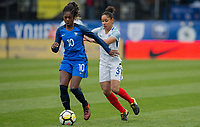 Columbus, Ohio - Thursday March 01, 2018: Aminata Diallo during a 2018 SheBelieves Cup match between the women's national teams of the England (ENG) and France (FRA) at MAPFRE Stadium.