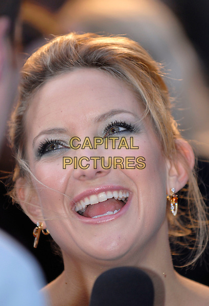 "KATE HUDSON .""Fool's Gold"" - UK film premiere,.Vue Leicester Square, London, .April 10th 2008..Fools portrait headshot green make-up eyeshadow  smiling  .CAP/IA.©Ian Allis/Capital Pictures"