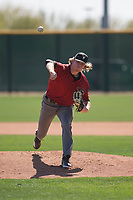 Arizona Diamondbacks relief pitcher Sam McWilliams (38) delivers a pitch to the plate during a Minor League Spring Training intrasquad game at Salt River Fields at Talking Stick on March 12, 2018 in Scottsdale, Arizona. (Zachary Lucy/Four Seam Images)