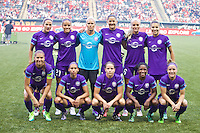 Portland, Oregon - Sunday April 17, 2016: Orlando Pride starting XI. The Portland Thorns play the Orlando Pride during a regular season NWSL match at Providence Park. The Thorns won 2-1.