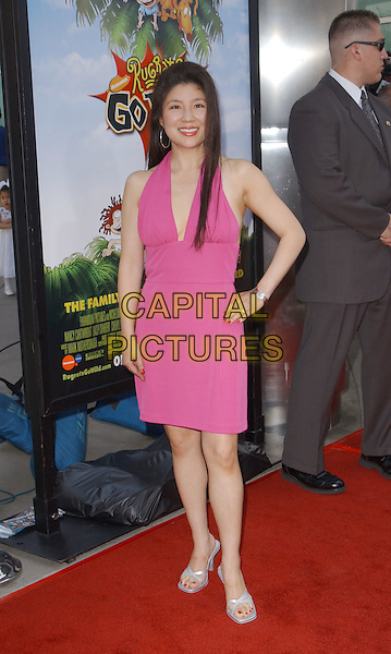 JULIA KATO.'Rugrats Go Wild' LA Film Premiere held at The Cinerama Dome in Hollywood..www.capitalpictures.com.sales@capitalpictures.com.©Capital Pictures.pink halterneck dress