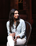"""Lauren Boys from the 'Hamilton' cast during the Q&A before The Rockefeller Foundation and The Gilder Lehrman Institute of American History sponsored High School student #EduHam matinee performance of """"Hamilton"""" at the Richard Rodgers Theatre on June 7, 2017 in New York City."""