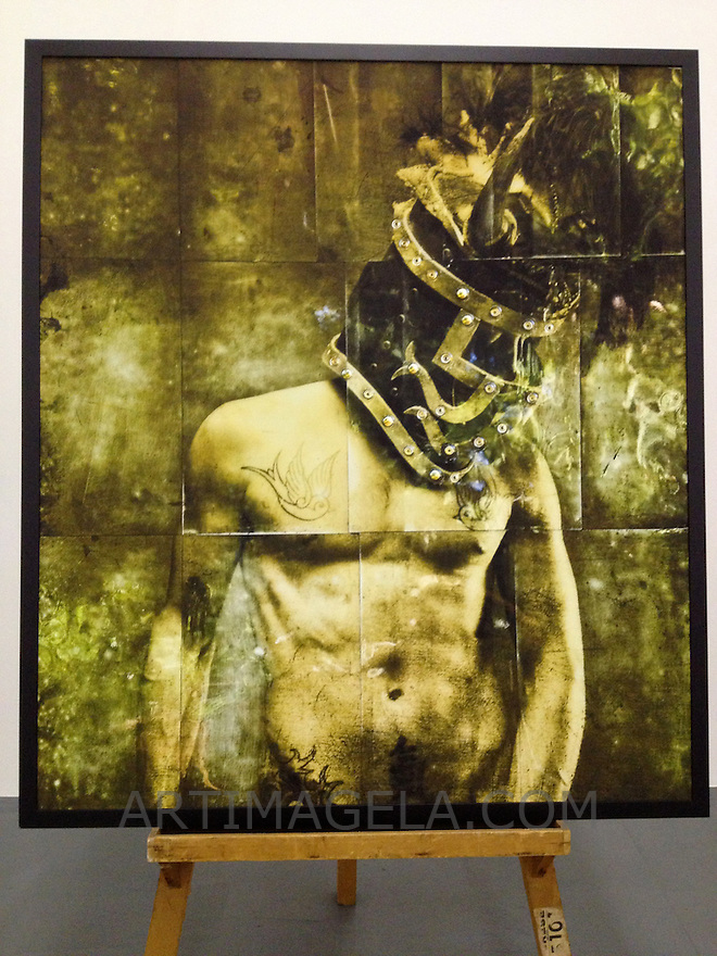 "Warrior Knight, 45 1/2"" x 52"" x 1 1/2"", Digital Print on Canvas, ROLLED RENTAL, Matte Finish"