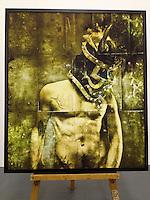 "Warrior Knight, 45 1/2"" x 52"" x 1 1/2"", Digital Print on Canvas, ROLLED RENTAL, Matte Finish"