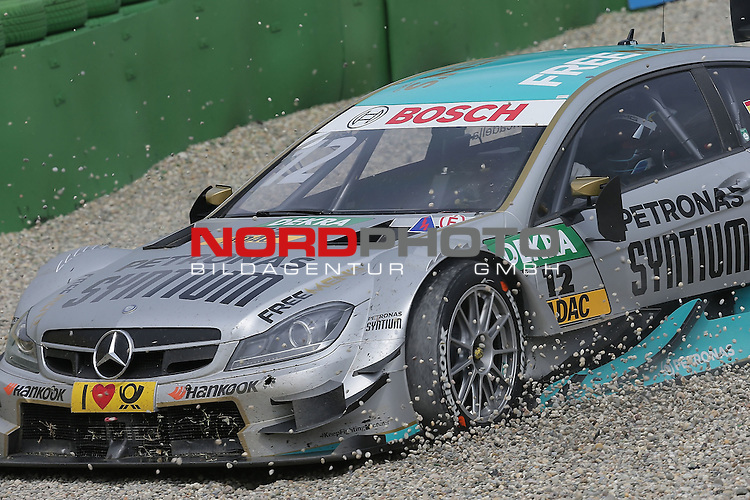 DTM 2015, 01.Lauf Hockenheimring, 01.05. - 03.05.15 <br /> Unfall ins Kiesbett von Daniel Juncadella (ESP#12) Petronas Mercedes-AMG C-Coup&eacute; <br /> <br /> <br /> <br /> Foto &copy; nordphoto /  Bratic
