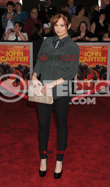LOS ANGELES, CA - FEBRUARY 22: Debby Ryan attends the 'John Carter' Los Angeles premiere held at the Regal Cinemas L.A. Live on February 22, 2012 in Los Angeles, California.