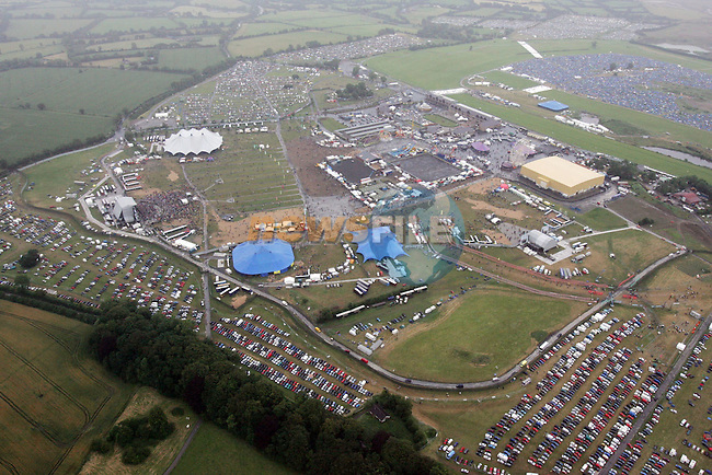 Punchestown Co Kildare, Oxegen Music festival  and the tented village.Photo: Fran Caffrey/ Newsfile.