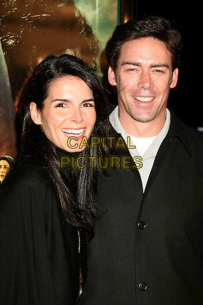 "ANGIE HARMON & JASON SEHORN.Los Angeles Premiere of ""The Nativity Story"" at Academy of Motion Picture Arts & Sciences, Beverly Hills, California, USA..November 28th, 2006.headshot portrait black.CAP/ADM/BP.©Byron Purvis/AdMedia/Capital Pictures"