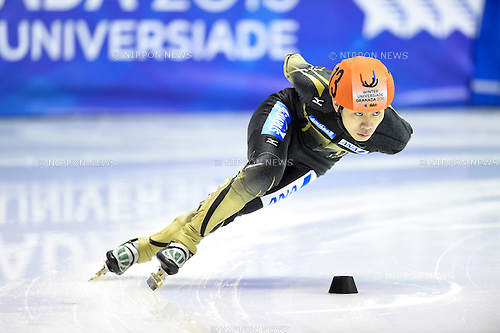 Hiroki Yokoyama (JPN), <br /> FEBRUARY 11, 2015 - Short Track : <br /> 27th Winter Universiade Granada 2015 <br /> Short Track Men's 1500m Heats <br /> at Universiade Igloo, Granada, Spain. <br /> (Photo by AFLO SPORT) [1220]