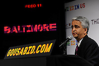 U.S. Soccer President and USA Bid Committee Chairman Sunil Gulati announces Baltimore as one of the 18 cities to be submitted to FIFA as part of the bid to host the 2018 or 2022 FIFA World Cup at the ESPN Zone in Times Square, NYC, NY, on January 12, 2010.