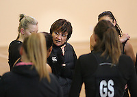 Silver Fern's Waimarama Taumaunu at training for the New World Netball Series match, Wallacetown Stadium, Invercargill, New Zealand, Saturday, September 14, 2013. ©MBPHOTO/Dianne Manson Michael Bradley Photography