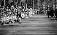 Giacomo Nizzolo (ITA/Trek-Segafredo) finishing his prologue<br /> <br /> stage 1: Apeldoorn prologue 9.8km<br /> 99th Giro d'Italia 2016