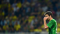 FUSSBALL   1. BUNDESLIGA   SAISON 2012/2013   1. SPIELTAG Borussia Dortmund - SV Werder Bremen                  24.08.2012      Sokratis Papastathopoulos (SV Werder Bremen) ist enttaeuscht