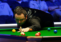 27th February 2020; Waterfront, Southport, Merseyside, England; World Snooker Championship, Coral Players Championship; Stephen Maguire (SCO) at the table during his quarter-final match against Mark Selby (ENG)