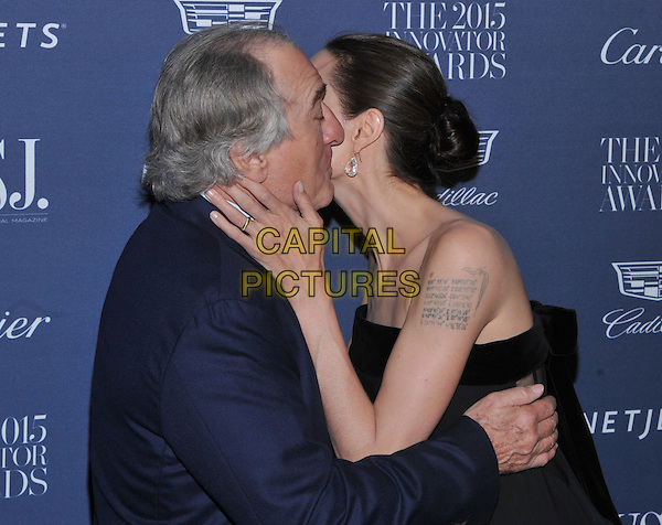 New York,NY-November 4: Robert De Niro, Angelina Jolie Pitt attend the WSJ. Magazine 2015 Innovator Awards at the Museum of Modern Art on November 4, 2015 in New York City. <br /> CAP/MPI/STV<br /> &copy;STV/MPI/Capital Pictures