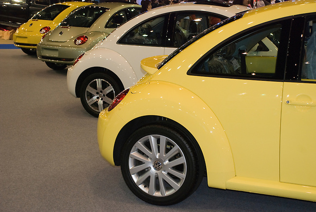 Volkswagon Beetles in a row