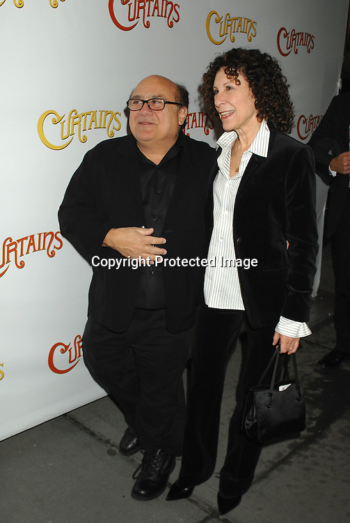 "Danny DeVito and Rhea Perlman..arriving at The Broadway Opening of ""Curtains"" on      March 22, 2007 at The Hirschfeld Theatre in New York...Robin Platzer, Twin Images"