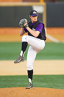 High Point Panthers relief pitcher Jordan Skavinsky (41) in action against the Wake Forest Demon Deacons at Wake Forest Baseball Park on April 2, 2014 in Winston-Salem, North Carolina.  The Demon Deacons defeated the Panthers 10-6.  (Brian Westerholt/Four Seam Images)