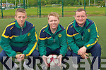 The 2010 Kerry Kennedy Cup management l-r: Damian Locke (Coach), Stefan McMahon (Manager) and Joby Costello (Goalkeeper Coach)