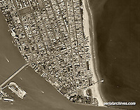 historical aerial photograph Miami Beach, Florida 1961