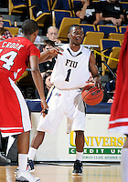 Florida International University guard Deric Hill (1) plays against Western Kentucky University, which won the game 61-51 on January 28, 2012 at Miami, Florida. .