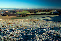 The West Lothian countryside from Cockleroy Hill, Beecraigs Country Park, near Linlithgow, West Lothian