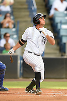 Tampa Yankees first baseman Greg Bird (33) at bat during a game against the Dunedin Blue Jays on June 28, 2014 at George M. Steinbrenner Field in Tampa, Florida.  Tampa defeated Dunedin 5-2.  (Mike Janes/Four Seam Images)