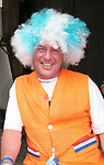 21 June 2006: A fan is dressed to support Holland with a wig to support Argentina. The Netherlands played Argentina at Commerzbank Arena in Frankfurt, Germany in match 37, a Group C first round game, of the 2006 FIFA World Cup.