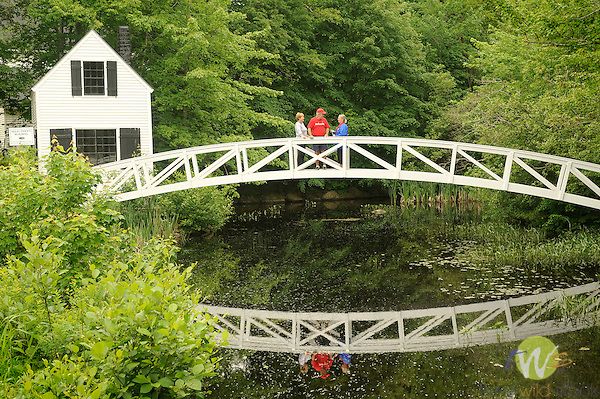 Footbridge. Selectman's Building and footbridge.