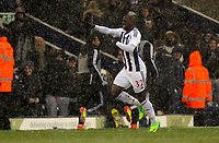 Pictured: Marc-Antoine Fortune of West Bromwich celebrating his opening goal. Saturday, 04 February 2012<br />