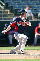 Jason Kipnis #72 of the Cleveland Indians plays against the Oakland Athletics in a spring training game at Phoenix Municipal Stadium on March 2, 2011  in Phoenix, Arizona. .Photo by:  Bill Mitchell/Four Seam Images.