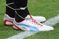 D.C. United forward Dwayne De Rosario (7) shoes. D.C. United tied The Philadelphia Union 1-1 at RFK Stadium, Saturday August 19, 2012.
