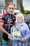 Sean Kelly and Ciss O'Connor at the Tour De Munster cycle in aid of Down Syndrome Ireland on Friday evening last.