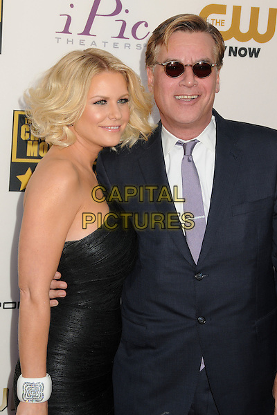 LOS ANGELES, CA - JANUARY 16 - Carrie Keagan, Aaron Sorkin. 19th Annual Critics' Choice Movie Awards held at Barker Hangar.<br /> CAP/ADM/BP<br /> &copy;Byron Purvis/AdMedia/Capital Pictures