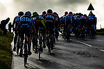 The peloton riding up Greenhow Hill during the Men U23 Road Race of the UCI World Championships 2019 running 186.9km from Doncaster to Harrogate, England. 27th September 2019.<br /> Picture: Zac Williams/SWpix.com | Cyclefile<br /> <br /> All photos usage must carry mandatory copyright credit (© Cyclefile | Zac Williams/SWpix.com)