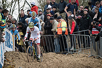 U23 World Cup leader Kevin Kuhn (SUI)<br /> <br /> U23 Men's Race<br /> UCI cyclocross WorldCup - Koksijde (Belgium)<br /> <br /> ©kramon