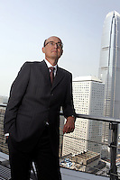 Mr. Conrado Engel posed in Central, Hong Kong. The International Financial Centre is at the background.<br />