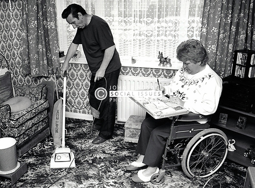 Carer & disabled woman UK 1991