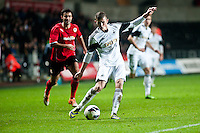 Monday 20 January 2014<br /> Pictured:<br /> Re: Swansea City U21 v Cardiff City U21 at the Liberty Stadium, Swansea Wales