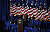 United States President Donald J. Trump speaks at the National Association of Realtors Legislative Meetings and Trade Expo, May 17, 2019 at the Marriott Wardman Park Hotel in Washington, DC. <br /> Credit: Olivier Douliery / Pool via CNP