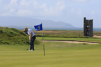 Darren O'Sullivan (Tralee) on the 7th green during the Munster Final of the AIG Barton Shield at Tralee Golf Club, Tralee, Co Kerry. 12/08/2017<br /> Picture: Golffile | Thos Caffrey<br /> <br /> <br /> All photo usage must carry mandatory copyright credit     (&copy; Golffile | Thos Caffrey)