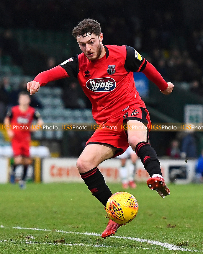 Elliot Embleton of Grimsby Town during Yeovil Town vs Grimsby Town, Sky Bet EFL League 2 Football at Huish Park on 9th February 2019