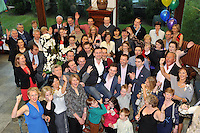 Comedian Oliver Callan and Mayo TD Darragh Calleary joined family and friends of local boy Anthony Kelly from Lissivigeen, Killarney for his 30th celebration bash in the Muckross Park Hotel on Saturday night..Picture by Don MacMonagle...FREE PHOTO NO RPERO FEE