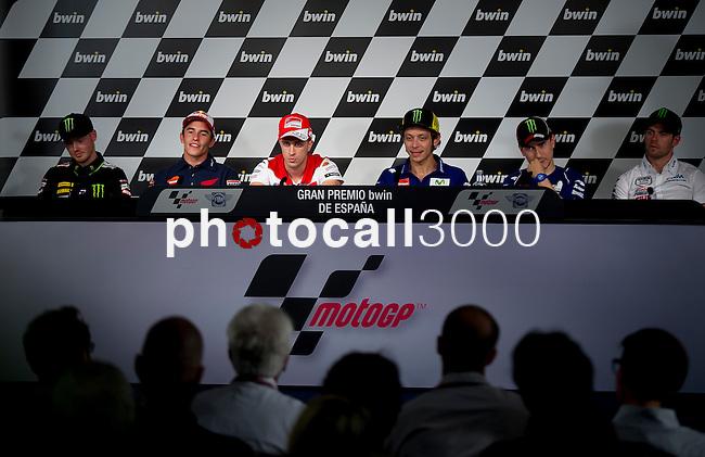 Bradley Smith, Marc Marquez, Andrea Dovizioso, Valentino Rossi, Jorge Lorenzo, Cal Crutchlow
