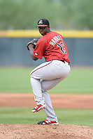 Arizona Diamondbacks pitcher Yefrey Ramirez (15) during an Instructional League game against the Los Angeles Angels on October 7, 2014 at Salt River Fields at Talking Stick in Scottsdale, Arizona.  (Mike Janes/Four Seam Images)