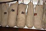 Ship duffel bags hanging on the US Brig Niagara Ship