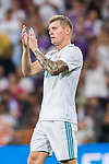 Toni Kroos of Real Madrid reacts during their Supercopa de Espana Final 2nd Leg match between Real Madrid and FC Barcelona at the Estadio Santiago Bernabeu on 16 August 2017 in Madrid, Spain. Photo by Diego Gonzalez Souto / Power Sport Images