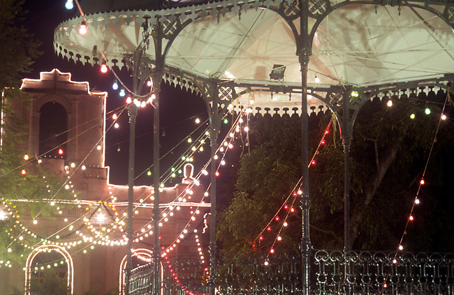 Gazebo, Christmas Decorations, Oaxaca City, Oaxaca, Mexico